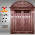 Exterior de lujo Entrada doble Puertas de fundición de aluminio