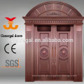 Portas de fundição de alumínio de entrada dupla luxo exterior
