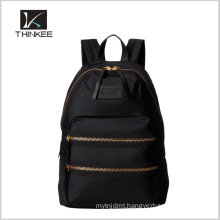High Quality Fashion Metal Zipper Leather Backpack