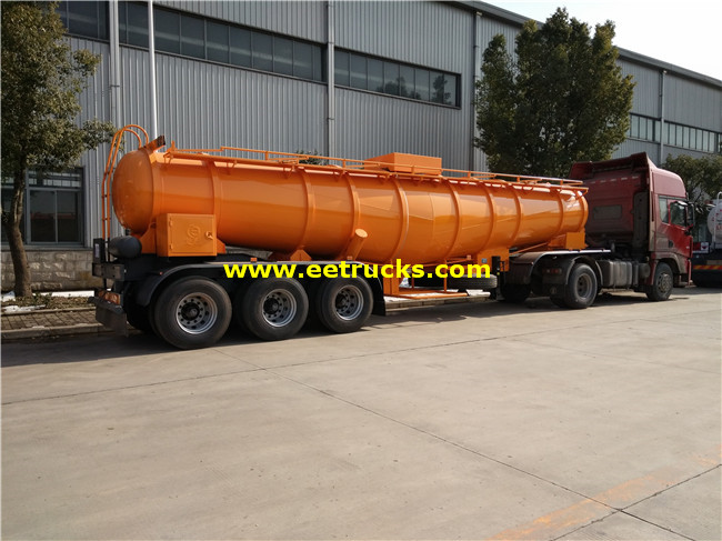 19cbm Sulfuric Acid Delivery Tanker Trailers