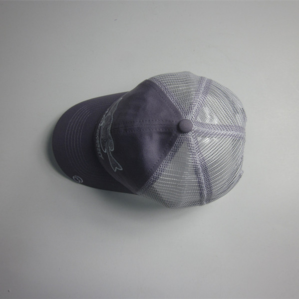 Fashion Fish Embroidery Mesh Cap