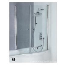 Tempered glass acrylic shower door