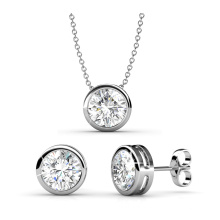 Fashion Jewelry Pendant and Stud Earrings Set with High Quality Crystal