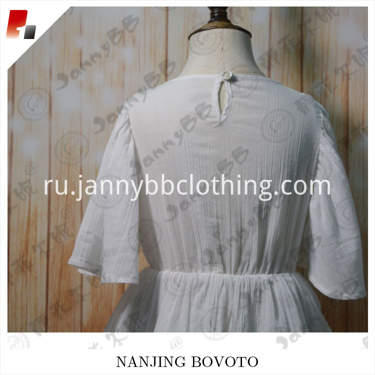white cotton dress