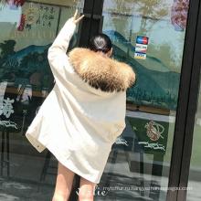 Прямая цена завода оптовая натурального меха куртка женщина