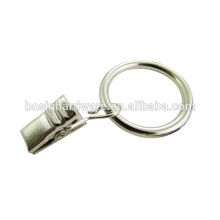 Fashion High Quality Metal Curtain Ring With Clip