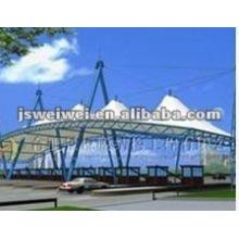 архитектура мембраной PTFE для строба пошлины на крыше