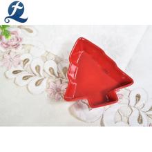 Pratos de serviço de catering de cerâmica de decoração de Natal Chaozhou