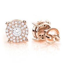 925 Sterling Silver Stud Earrings Jóias Micro Setting Stones