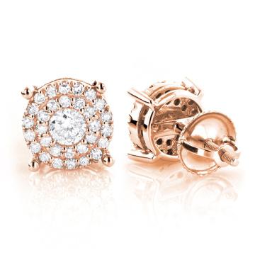 925 Sterling Silver Stud Earrings Jewelry Micro Setting Stones