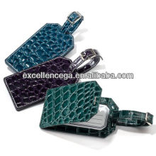 Hot sale faux leather luggage tags