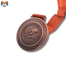 Medalla de karate de carrera de estampado de metal personalizada