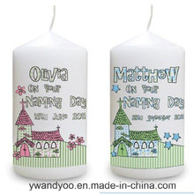 Decorative Scented Soy Pillar Candle