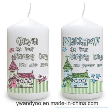 Vela perfumada decorativa del pilar de la soja