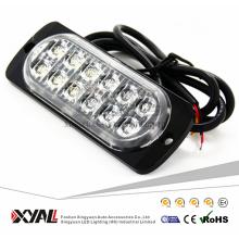 Luz do carro levou fina 12LED 36 W LED de advertência luz estroboscópica Piscando Lâmpada LED 12 V LEVOU luz de emergência