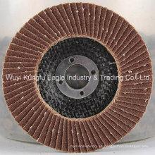 7 '' discos abrasivos de aleta de óxido de aluminio cubierta de fibra de vidrio 38 * 15 mm 120 unids