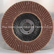 Tampa de vidro de fibra abrasiva 38 * 15mm 120PCS dos discos da aleta do óxido de alumínio de 7 ′ ′