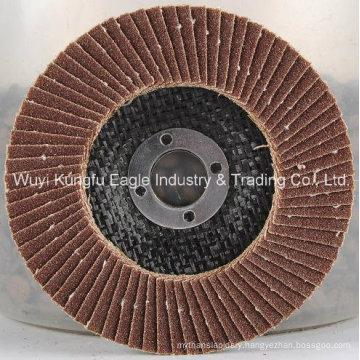 4.5′′ Aluminium Oxide Flap Abrasive Discs (fibre glass cover 24*15mm)