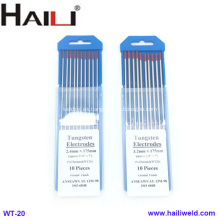 HAILI Electrodo de tungsteno toriado WT20, paquete de 10 2.4MMX175MM