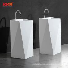 White acrylic western washroom wash hand basin
