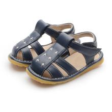 Dark Navy Baby Boy Squeaky Sandals