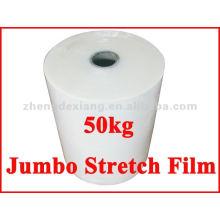 Película extensível jumbo de plástico