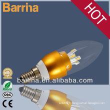 2013 vente chaude bougie lumière led ampoule 3W 4W