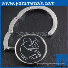 promoção metal personalizado logotipo bolsa colar gancho