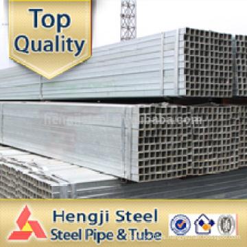 Galvanizado cuadrado hueco sección de la fábrica en Tianjin
