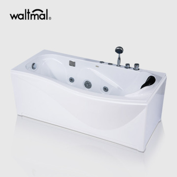 New Town White Acrylic Tub dengan Whirlpool