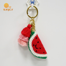 Handmade Key Chain Accessories Crochet Watermelon