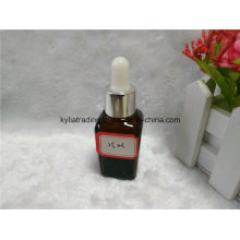 25ml Brown Square Essential Oil Bottle with White Dropper (EOB-17)