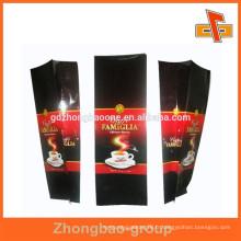 Sacs d'emballage en grains de café en plastique de 250g, 500g, 1kg avec gousset latéral