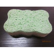 Esponja de celulosa pegada para limpieza