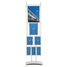 Acrylic POS Portrait Display, Customized Lucite Poster Stand