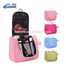 Cosmetic bag with zipper and logo
