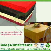 Tissu non tissé de couverture de table de pp Spunbond