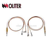 oliter factory clip fiberglass insulate copper parts gas thermocouple with yellow plug used in vacuum furnace