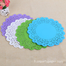Tapis de Table jetables en papier décoratif napperons