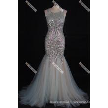 Sexy Beaded Mermaid Prom Dress Robe de soirée vraie photo Floor Length Evening Dress