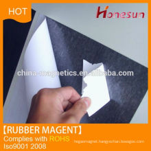 Adhesive covered rubber magnet for sale