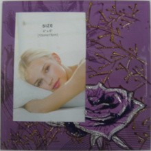"Purple Flower 4""X6"" Glass Photo Frame"