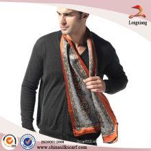 Bufanda de seda grande 100% suave para hombres, Bufandas de seda al por mayor