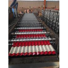 Máquina formadora de rollos de teja corrugada para tejas
