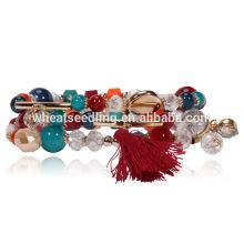 Top marca personalizada voga amizade presente buddha frisado embrulho pulseira de vidro
