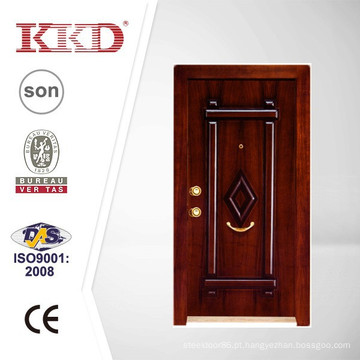 Segurança de madeira aço blindado porta JKD-TK938 com estilo turco
