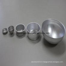 Feuille d'aluminium utilisée pour la cheminée-lampe
