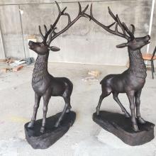 Китай поставщик оптовая продажа в натуральную величину бронзовый олень статуя