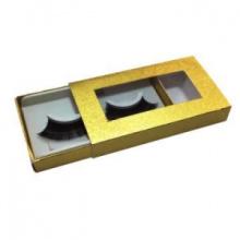 Emballage fait sur commande de boîte de cil d'impression d'or