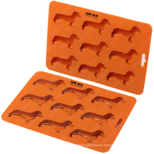 Ice Cube Tray for Dachshund Dog Shaped Silicone Ice Tray with BPA Free